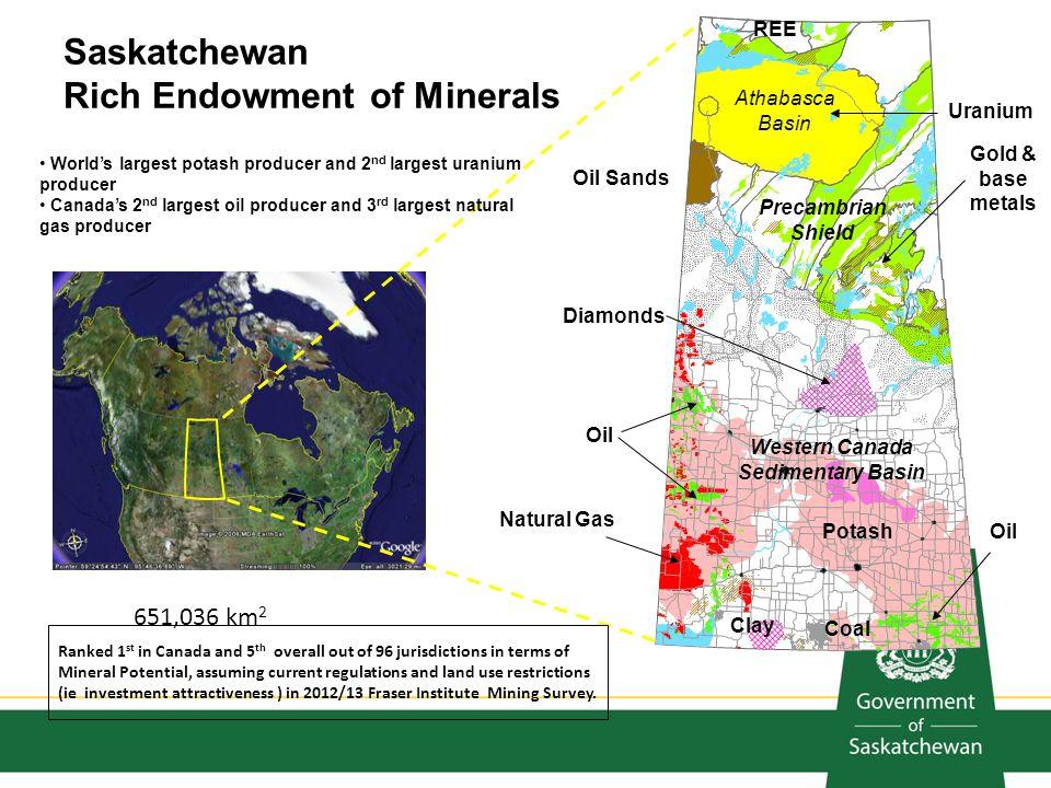 Saskatchewan Rich Endowment of Minerals