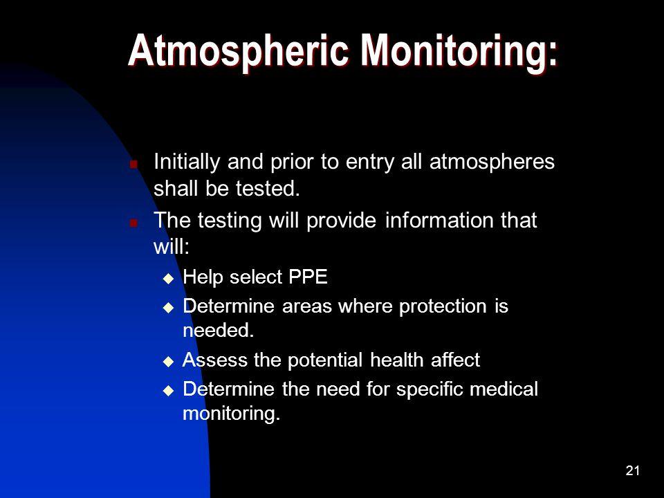 Atmospheric Monitoring: