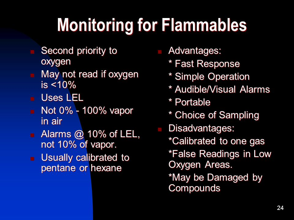 Monitoring for Flammables