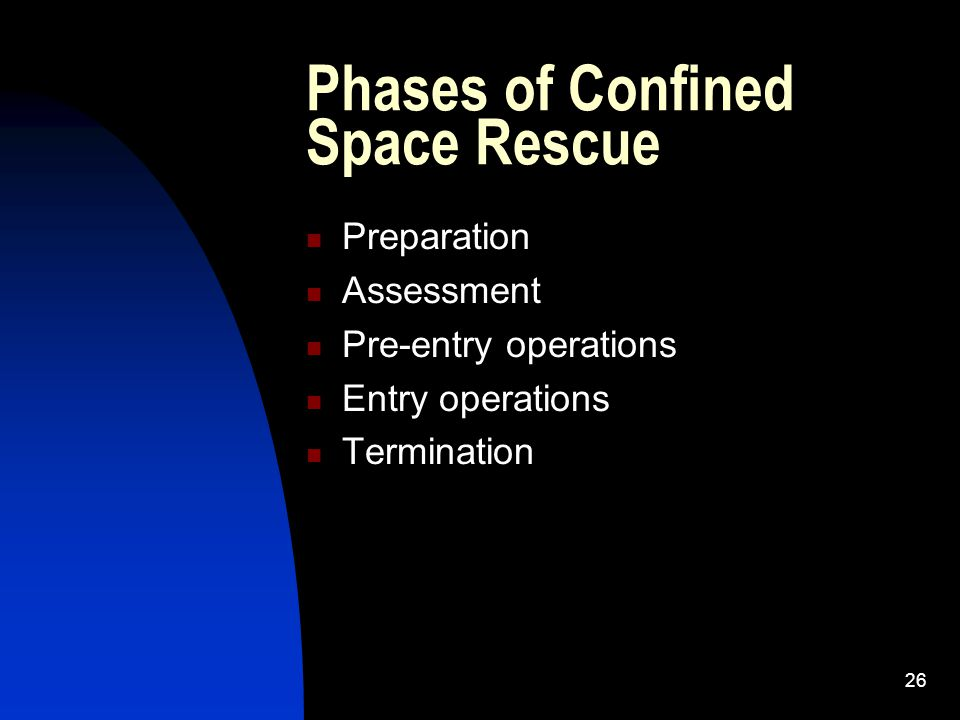 Phases of Confined Space Rescue