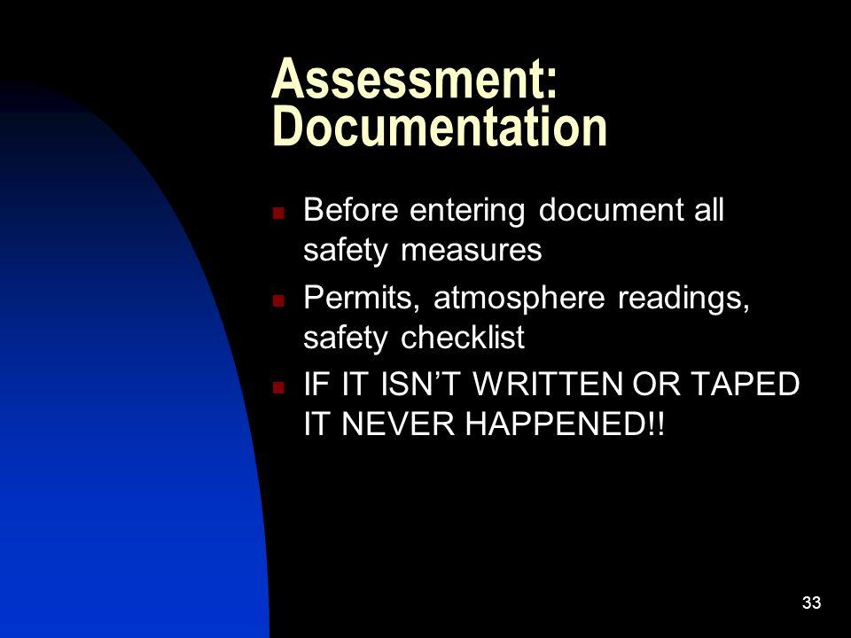 Assessment: Documentation