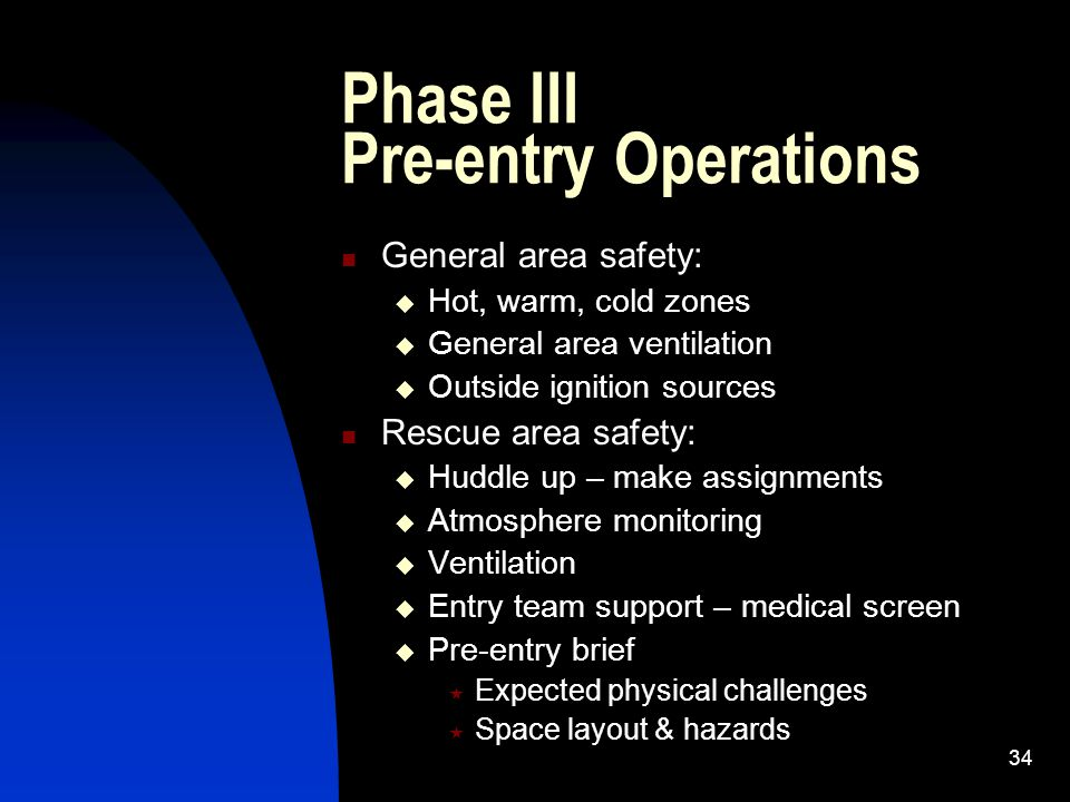 Phase III Pre-entry Operations