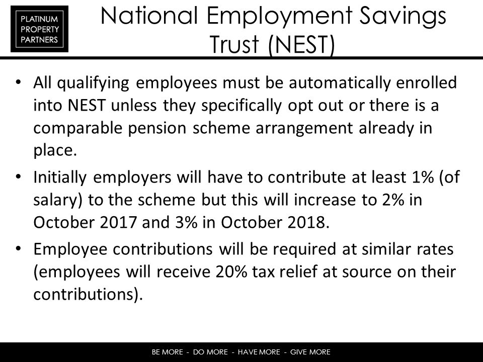 National Employment Savings Trust (NEST)