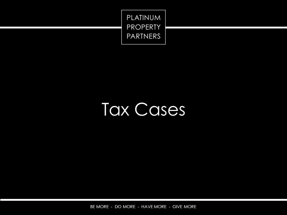 Tax Cases