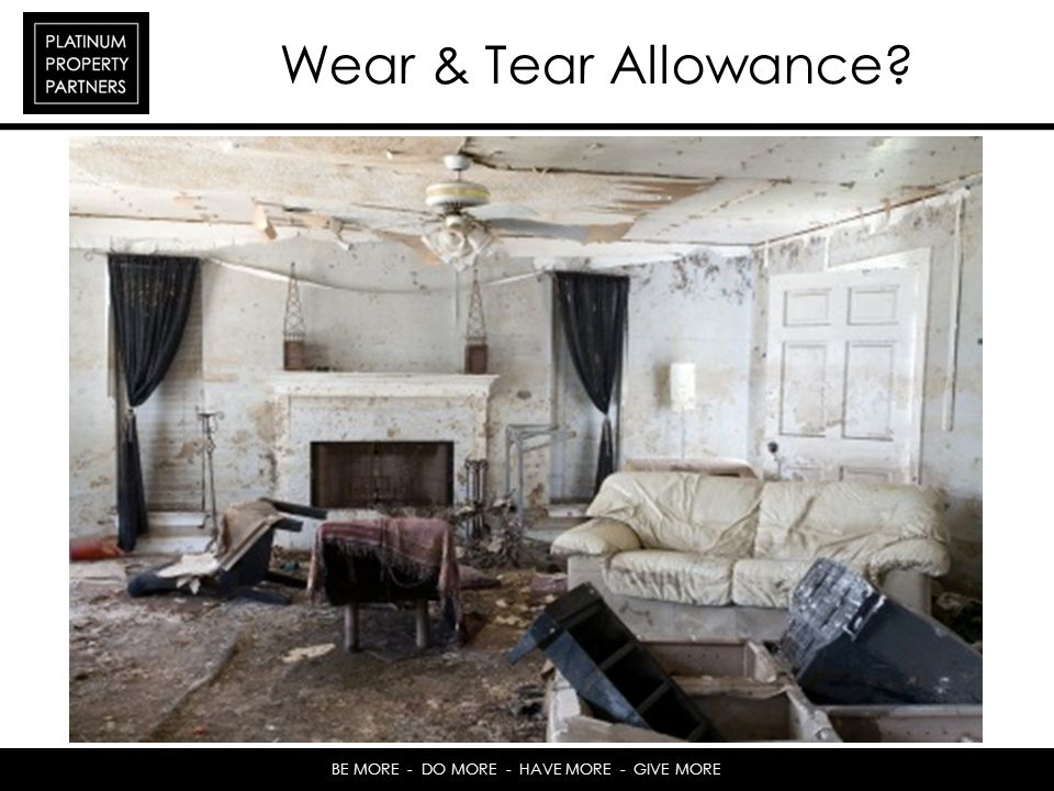 Wear & Tear Allowance