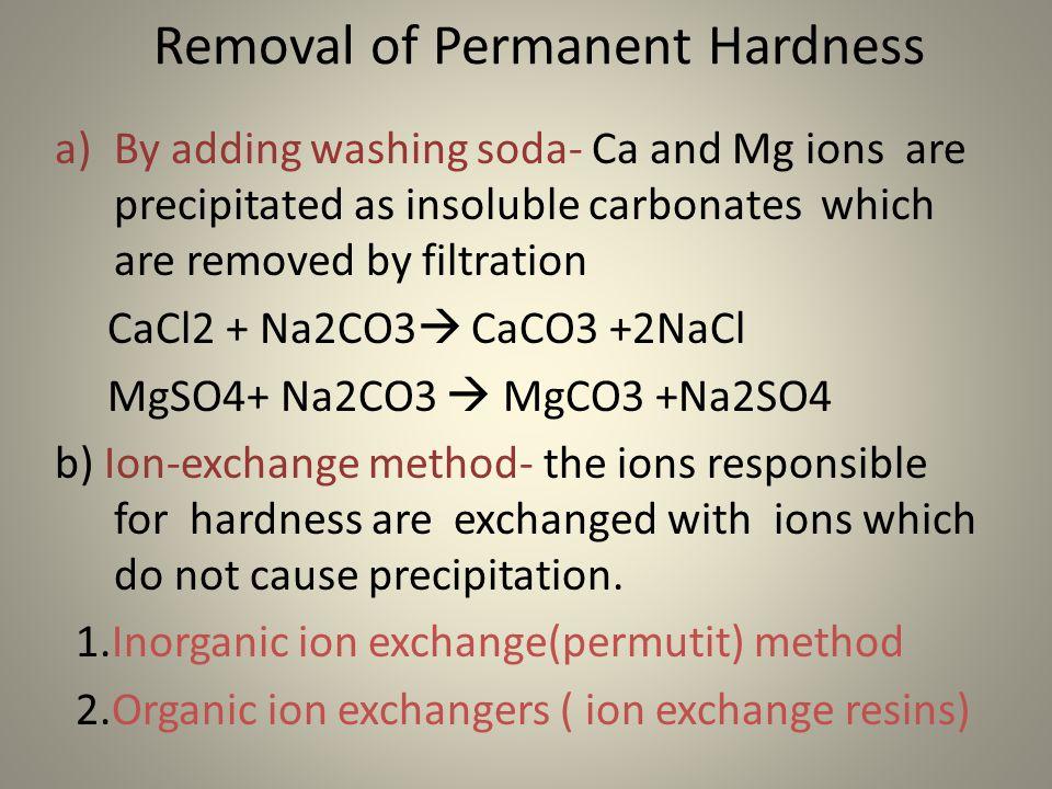 Inorganic Phosphate HARD WATER AND SOFT WA...
