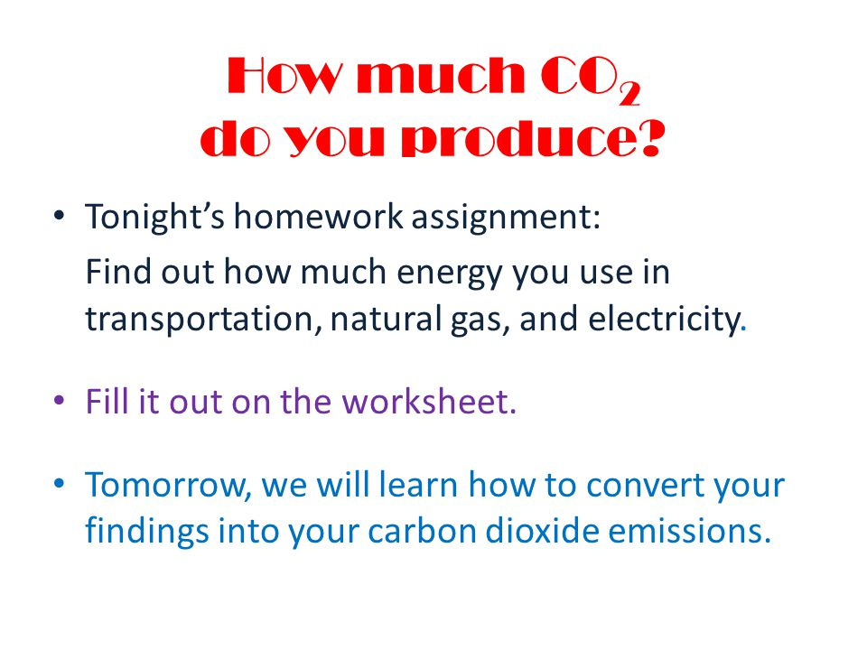 How much CO2 do you produce