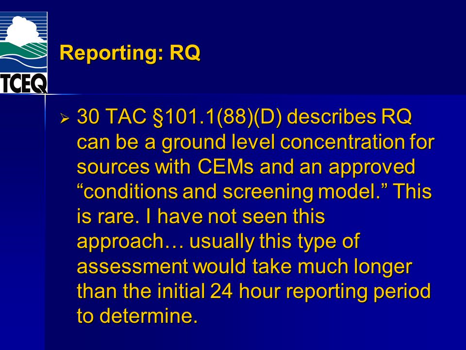 Reporting: RQ