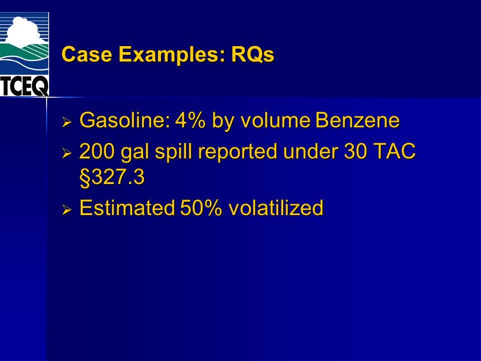 Gasoline: 4% by volume Benzene