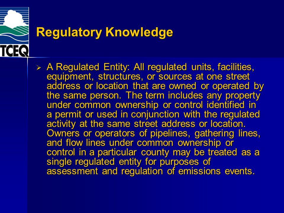 Regulatory Knowledge