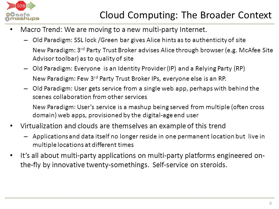 Cloud Computing: The Broader Context