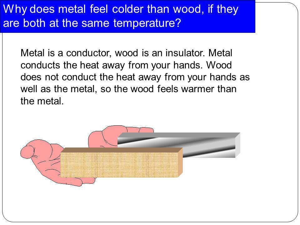Why does metal feel colder than wood, if they are both at the same temperature
