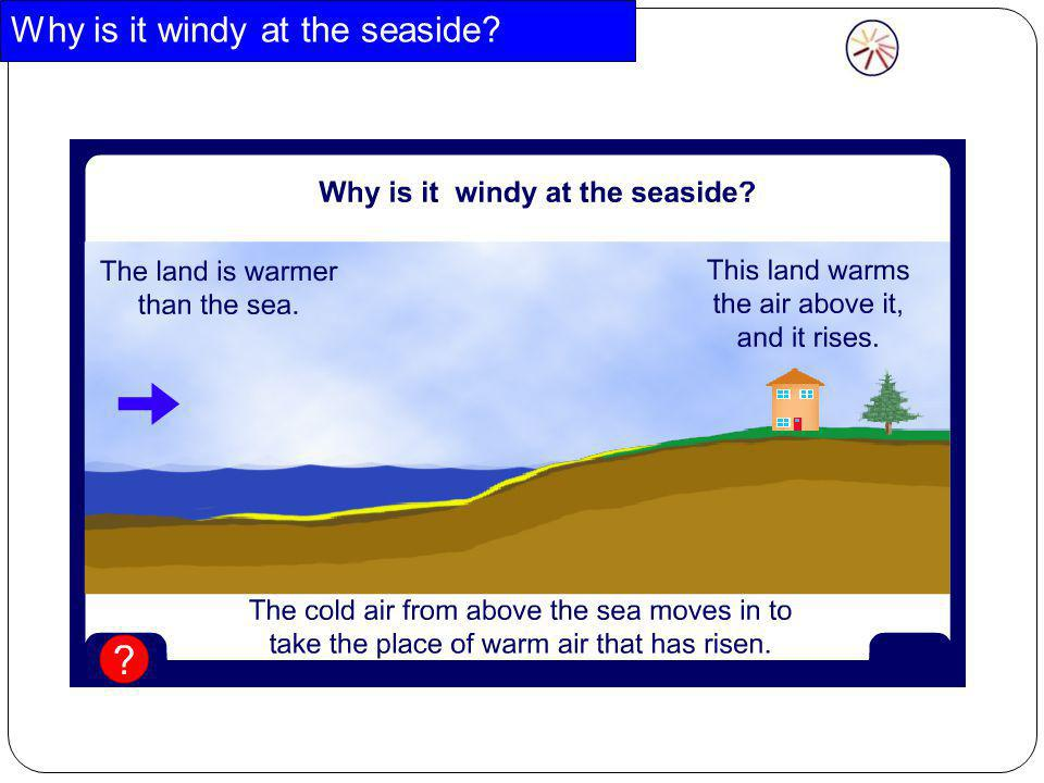 Why is it windy at the seaside