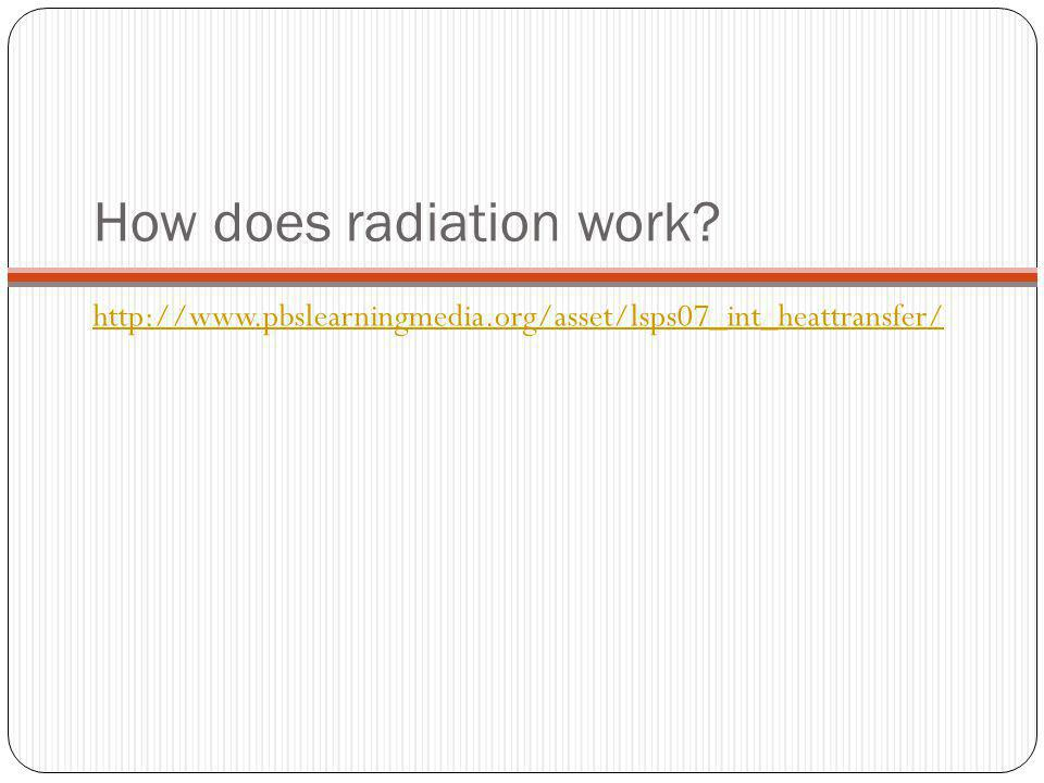 How does radiation work