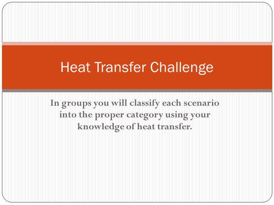 Heat Transfer Challenge