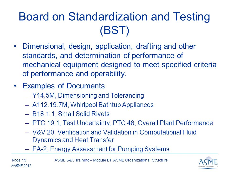 Board on Safety Codes & Standards (BSCS)