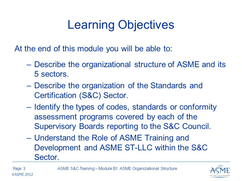 ASME Mission, Vision and Strategic Priority