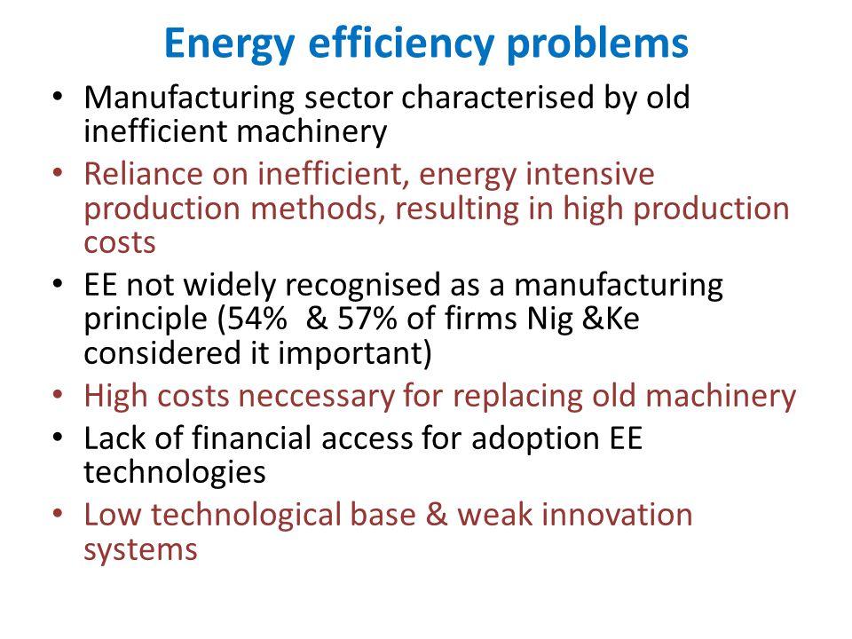 Energy efficiency problems