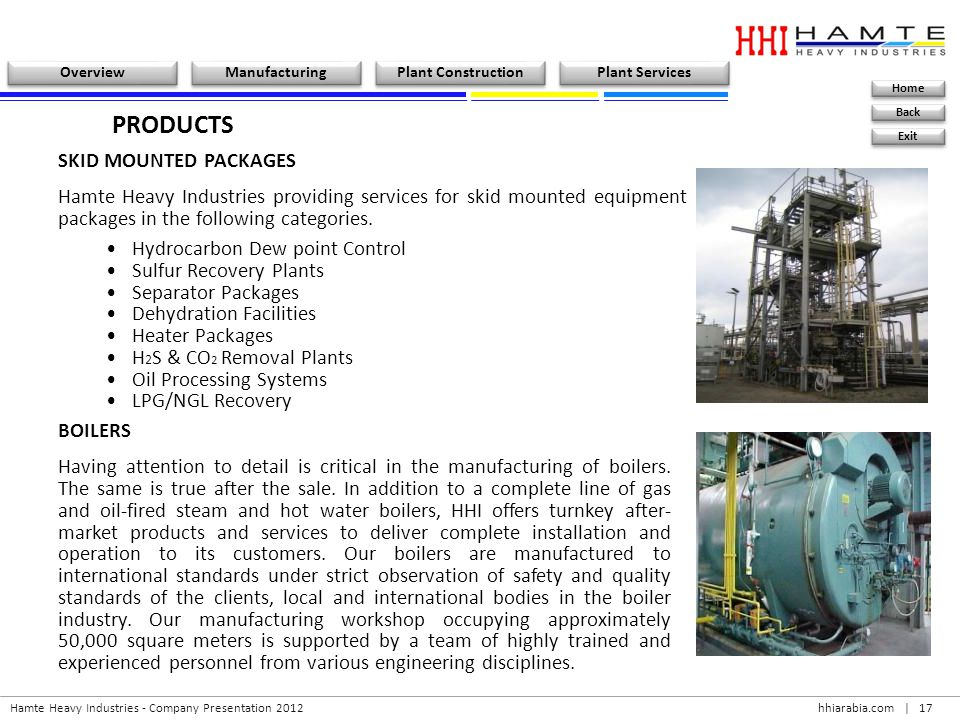 PRODUCTS SKID MOUNTED PACKAGES