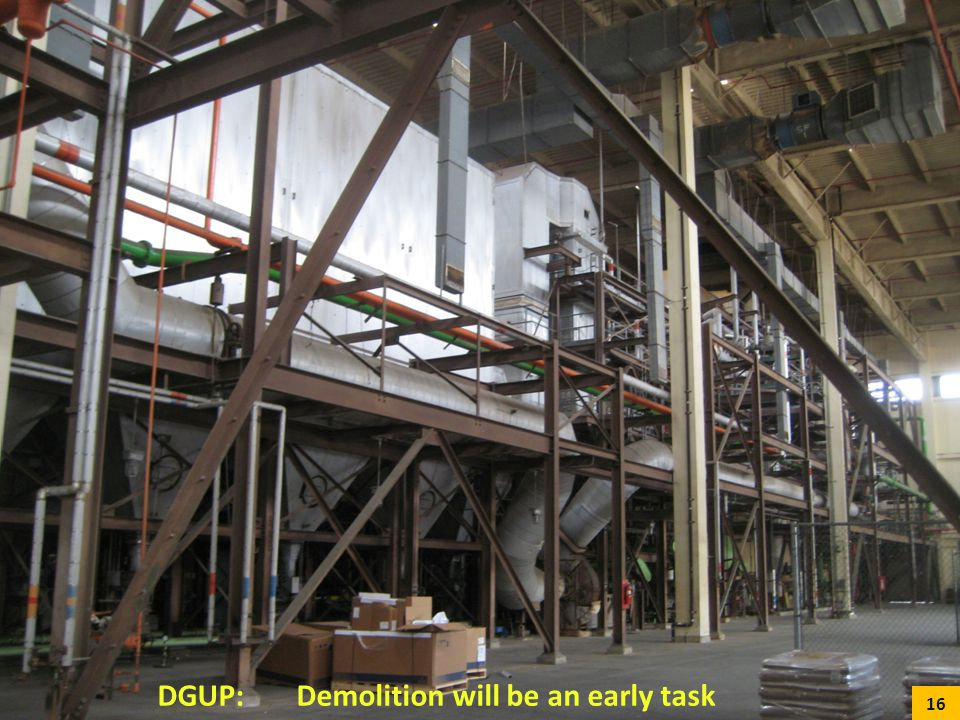 DGUP: Demolition will be an early task