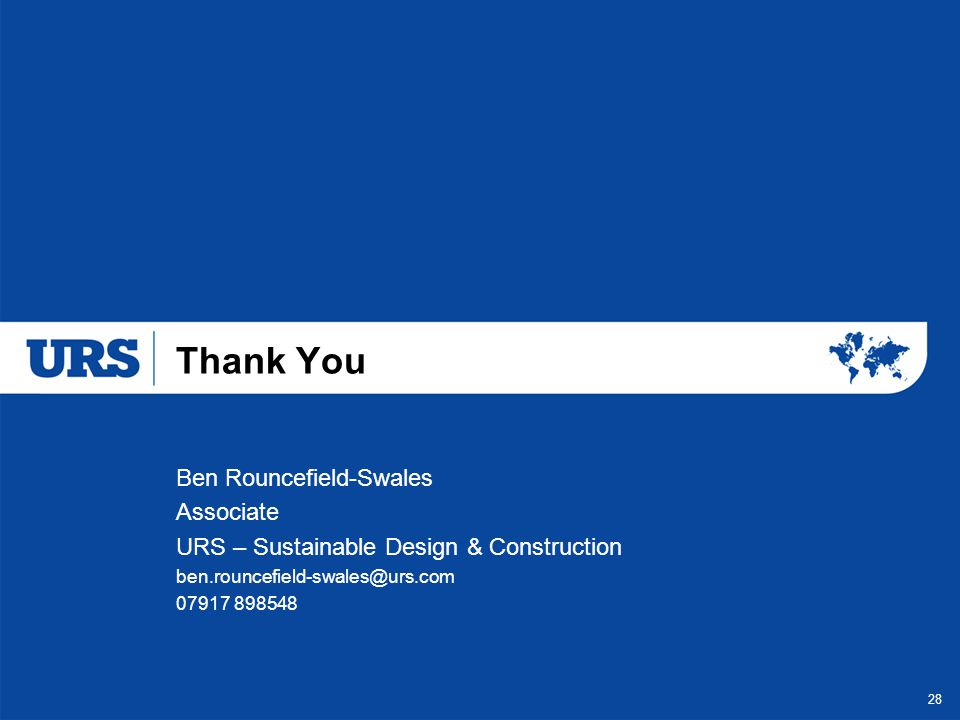 Thank You Ben Rouncefield-Swales Associate
