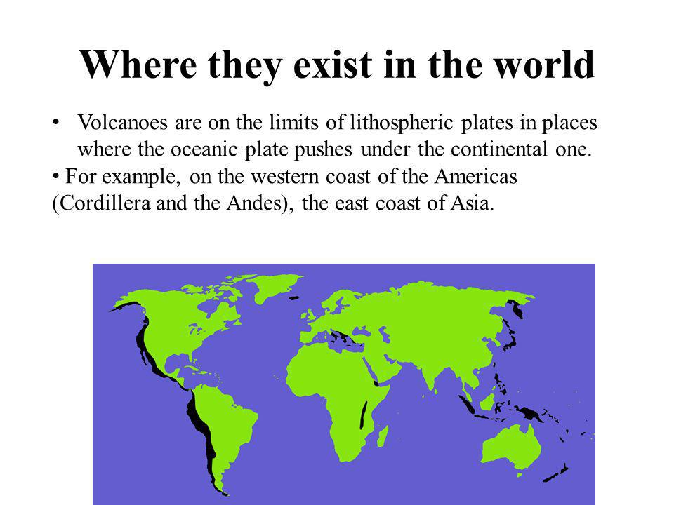 Where they exist in the world
