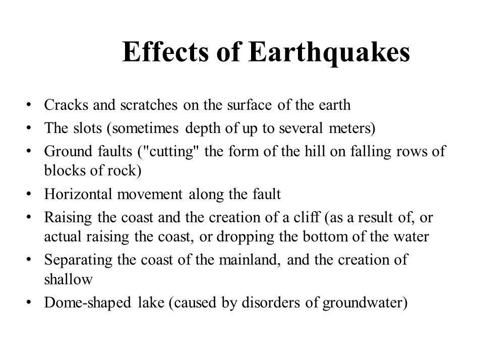 Effects of Earthquakes