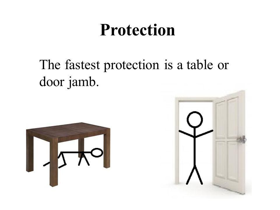 The fastest protection is a table or door jamb.
