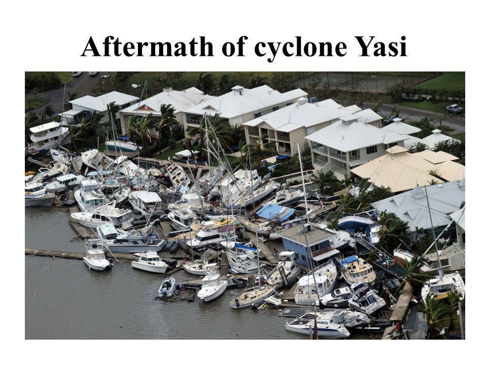 Aftermath of cyclone Yasi