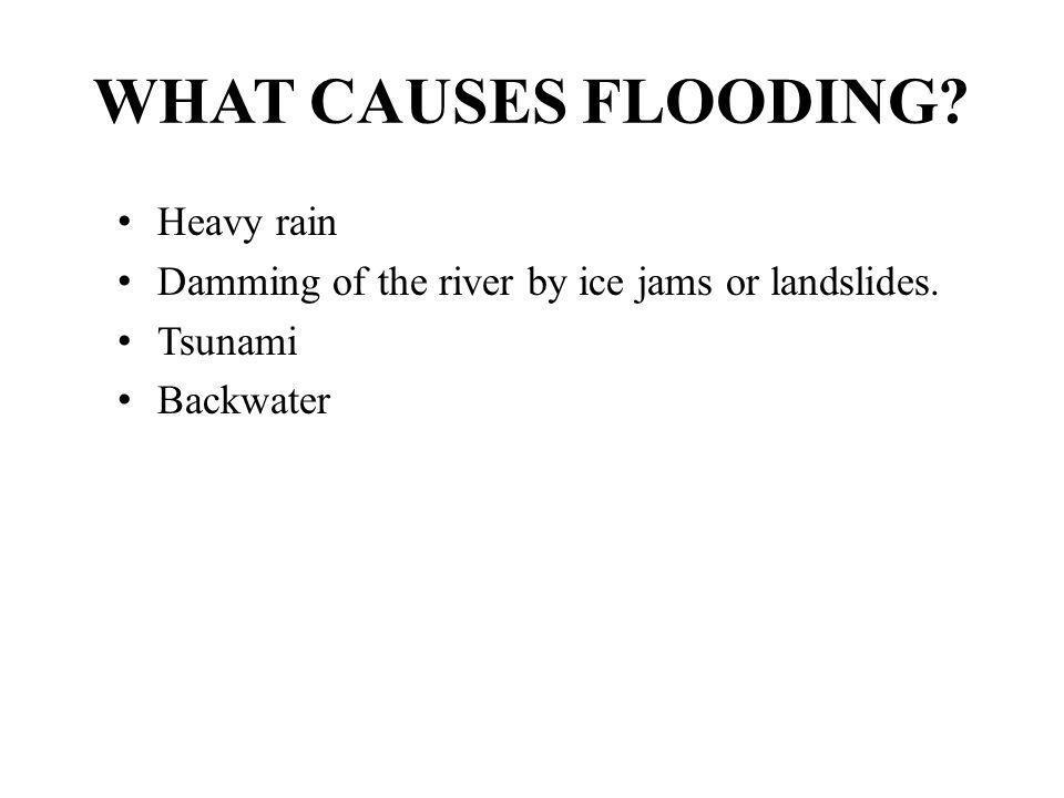 WHAT CAUSES FLOODING Heavy rain