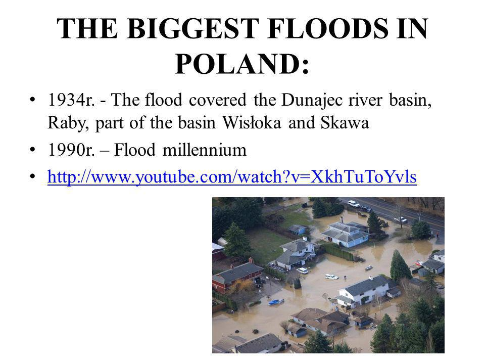 THE BIGGEST FLOODS IN POLAND: