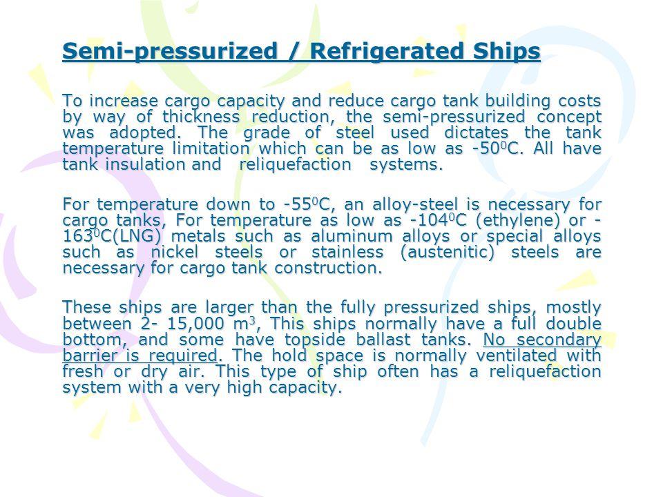 Semi-pressurized / Refrigerated Ships