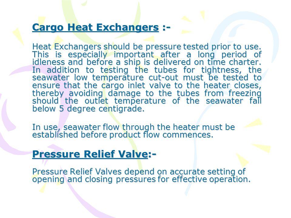 Cargo Heat Exchangers :-