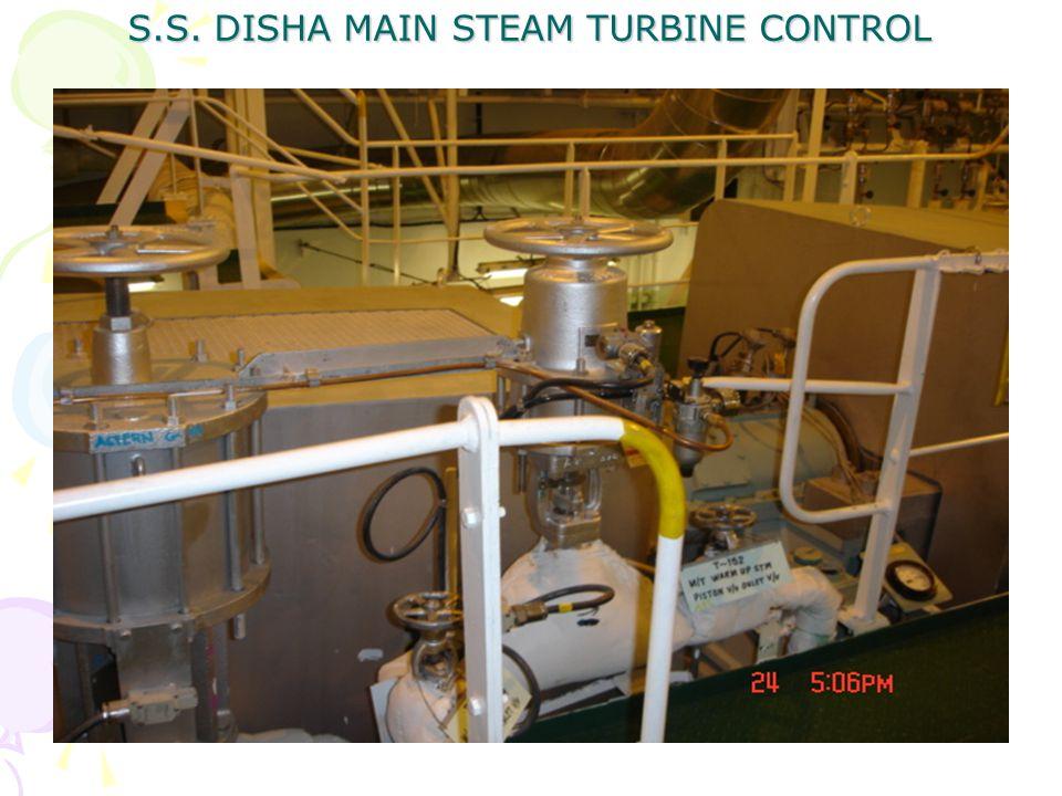 S.S. DISHA MAIN STEAM TURBINE CONTROL