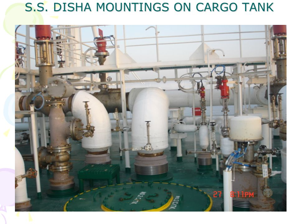 S.S. DISHA MOUNTINGS ON CARGO TANK