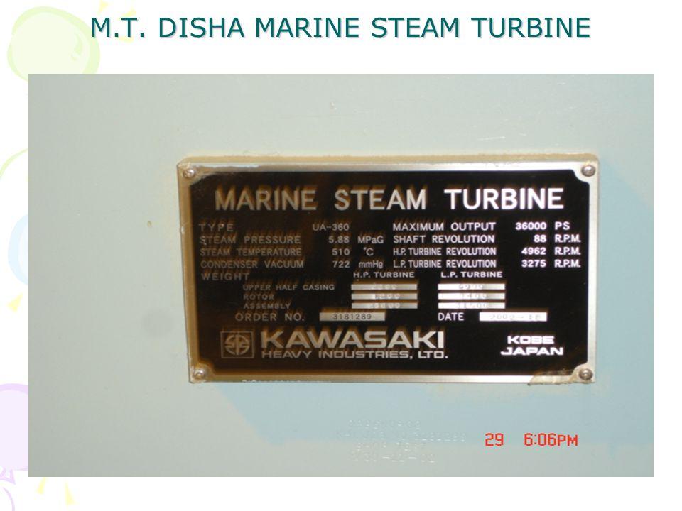 M.T. DISHA MARINE STEAM TURBINE