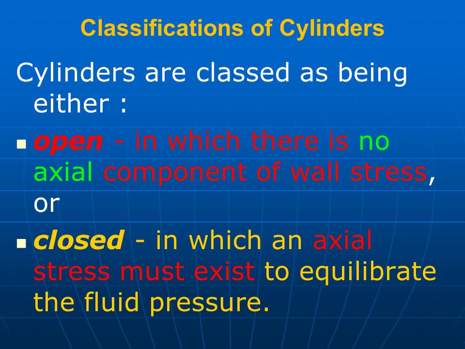 Classifications of Cylinders