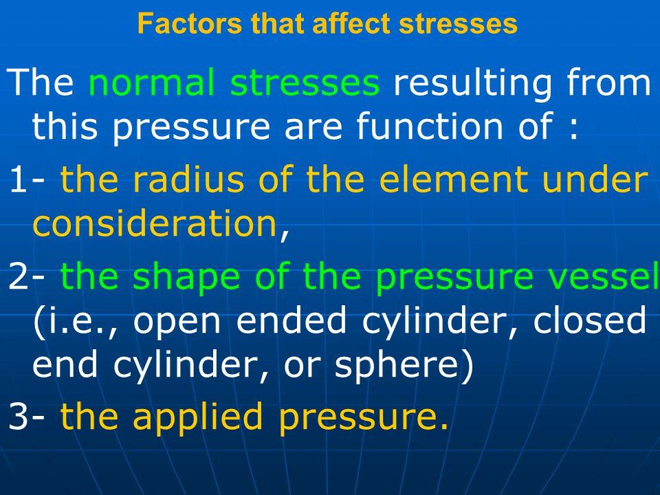 Factors that affect stresses