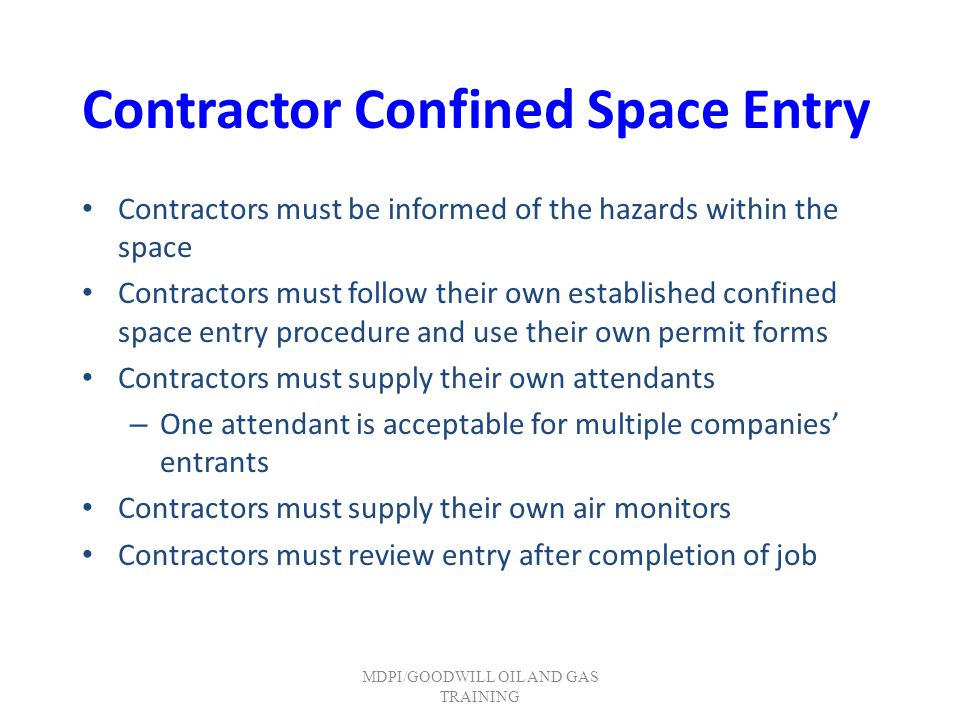 Contractor Confined Space Entry