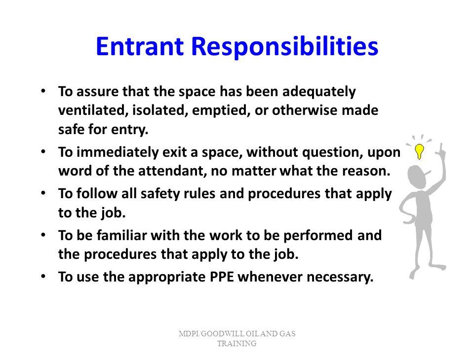 Entrant Responsibilities