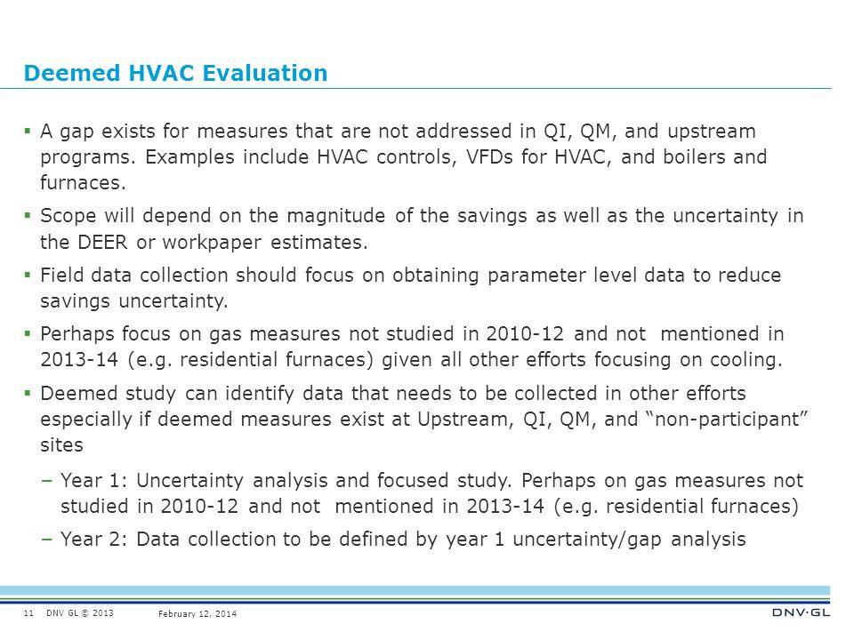 Deemed HVAC Evaluation