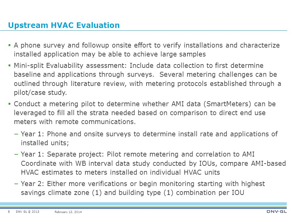 Upstream HVAC Evaluation