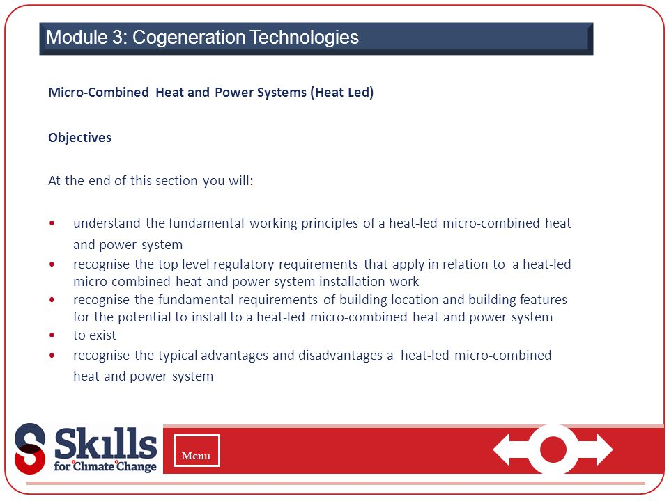  Module 3: Cogeneration Technologies