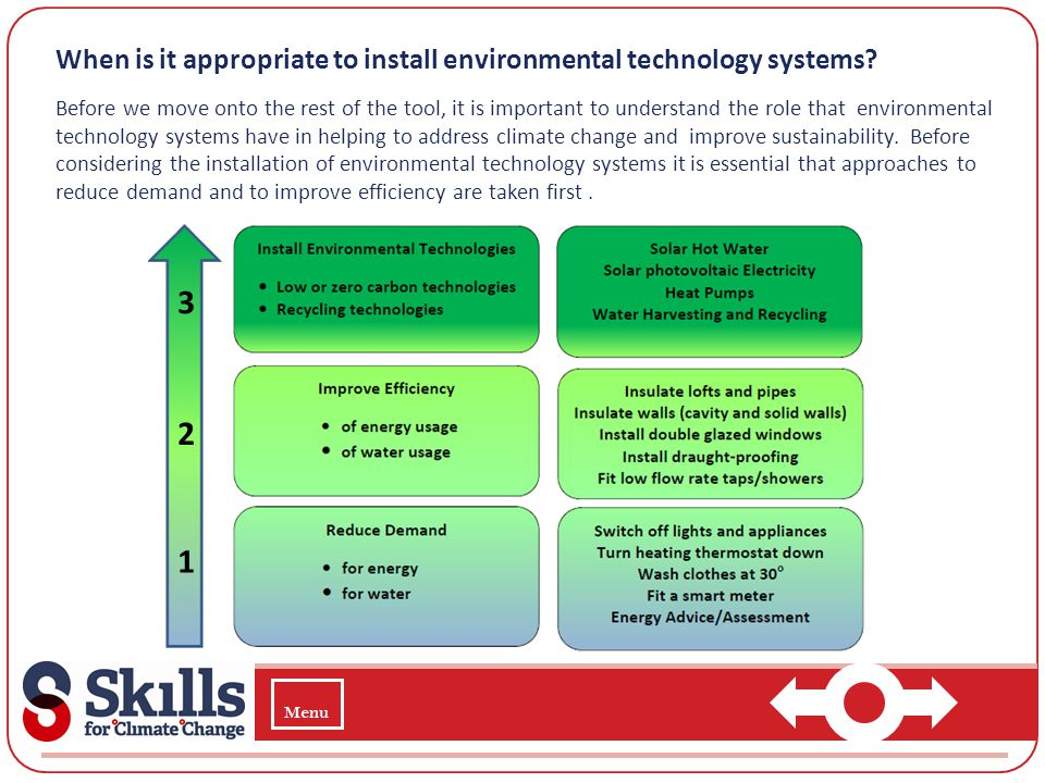 When is it appropriate to install environmental technology systems