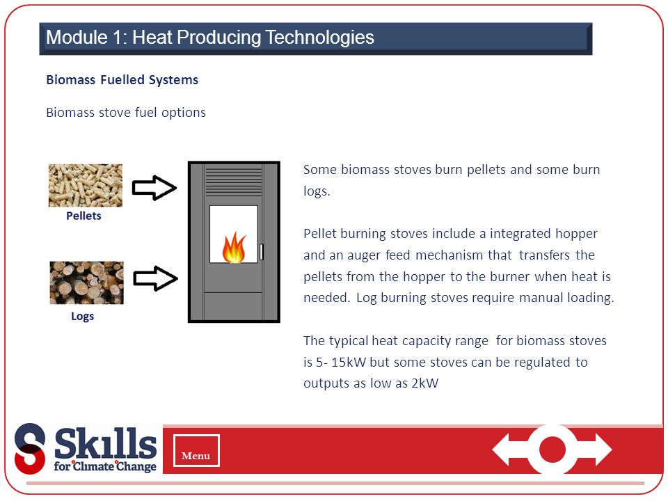  Module 1: Heat Producing Technologies Biomass Fuelled Systems