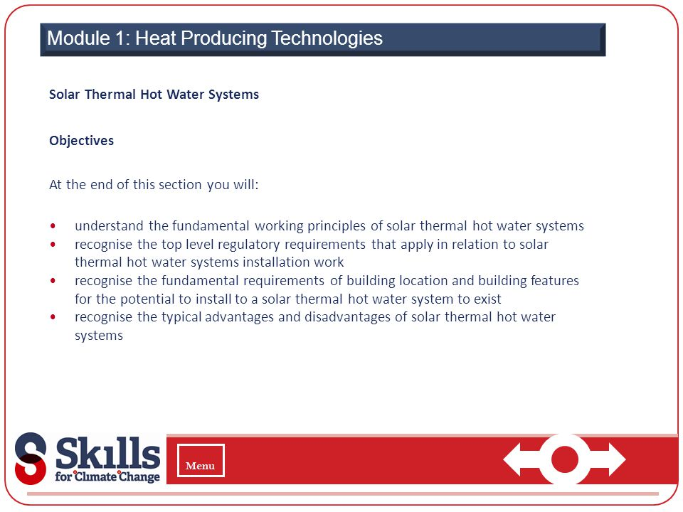  Module 1: Heat Producing Technologies