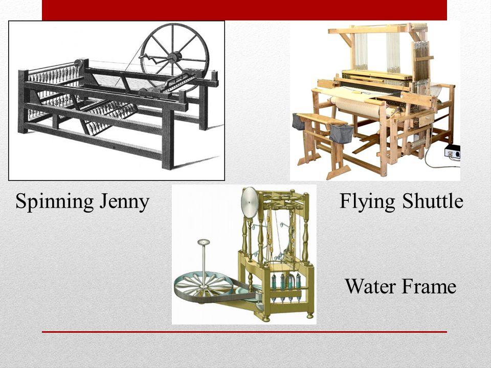 Spinning Jenny Flying Shuttle Water Frame