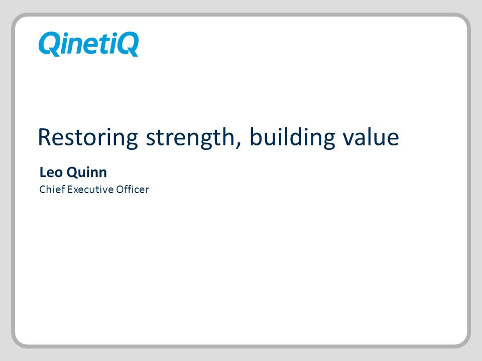 Restoring strength, building value