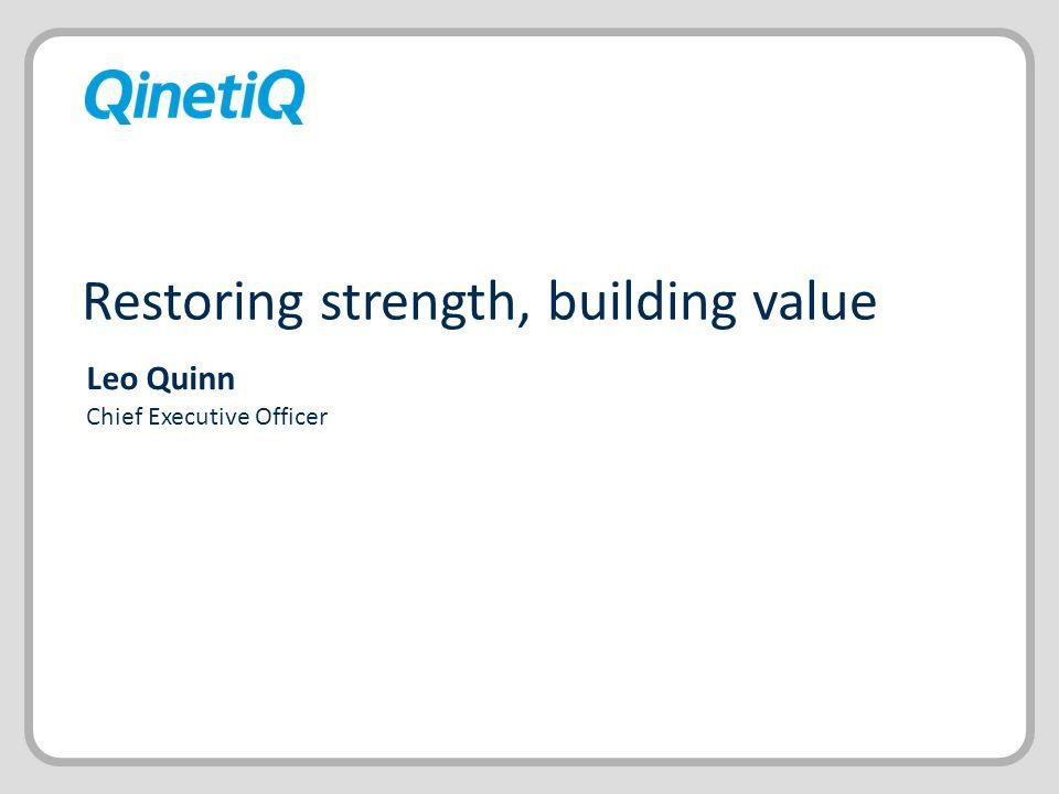 Restoring strength, building value