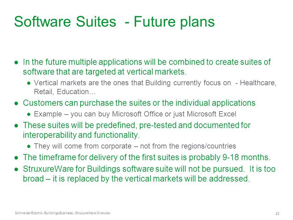 Software Suites - Future plans
